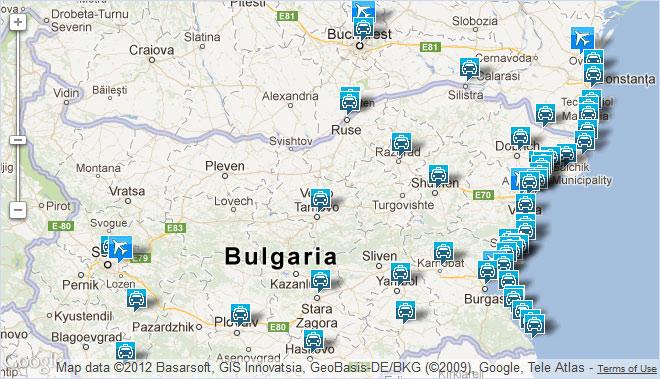 Аэропорт Варна Карта