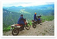 Panoramic motorcycle road trip