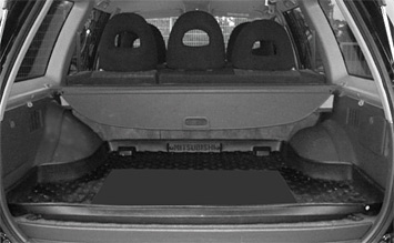 Luggage compartment » 2006 Mitsubishi Pajero Sport