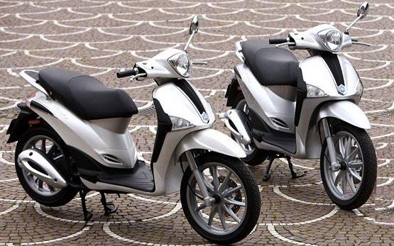 2010 piaggio liberty 50cc scooter rental in sardinia - olbia, italy