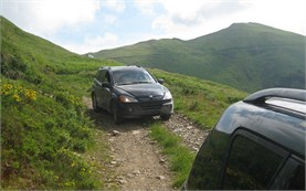 4WD drive in the mountains - Bulgaria