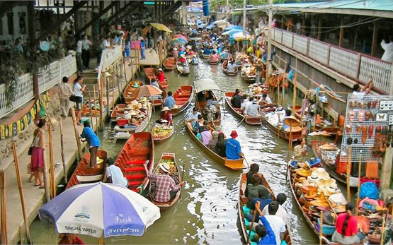 Bangkok - market of water