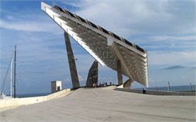 Barcelona - Esplanade and Photovoltaic power plant