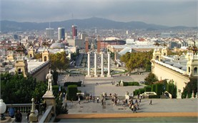 Barcelona -  view from Montjuic