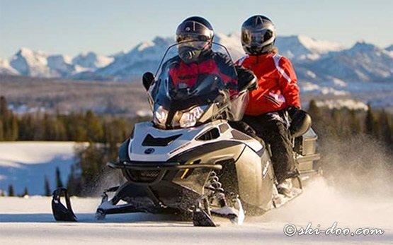 2012 Ski-Doo Grand Touring - Two riders UP