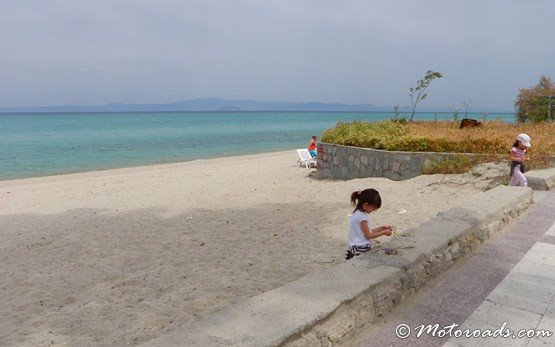 At the Beach of Hanioti, Halkidiki