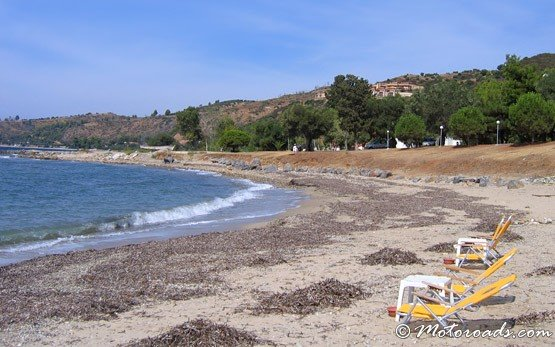 Beach of Kriopigi, Greece