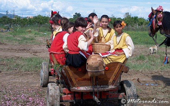 Children at the Rose Festival, Kazanlak