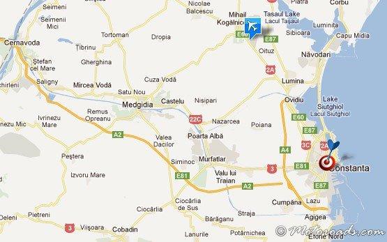 Map Constanta Airport