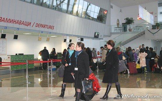 Внутри аэропорта Пловдива Крумово