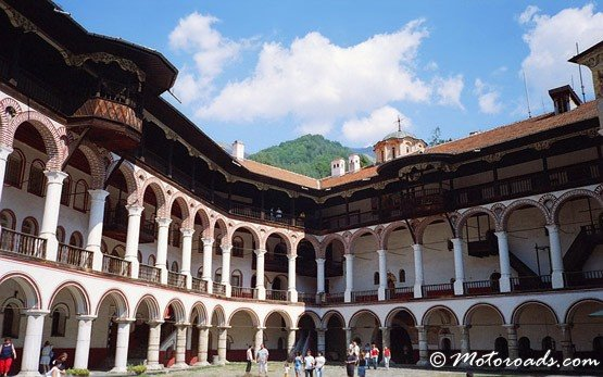 Inside Rila Monastery