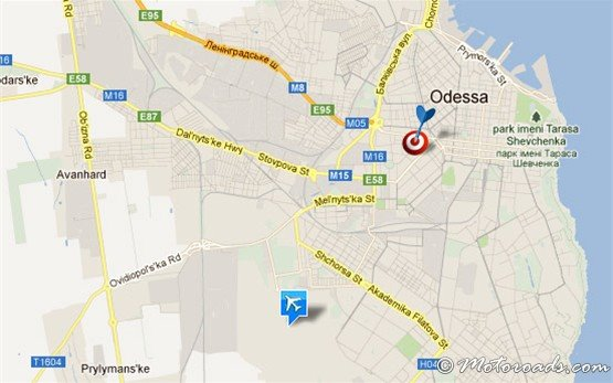Map, Odessa International Airport