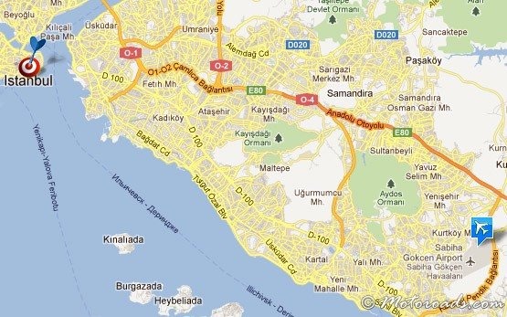 Map of Istanbul Sabiha Gokcen Airport