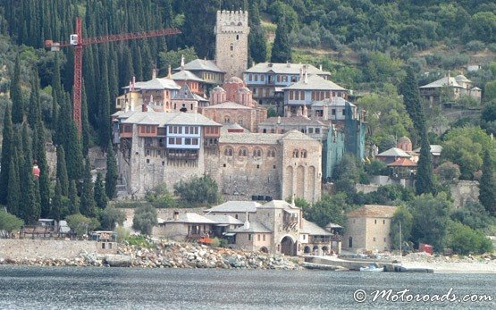 Monastery on Mount Athos near Ouranoupolis