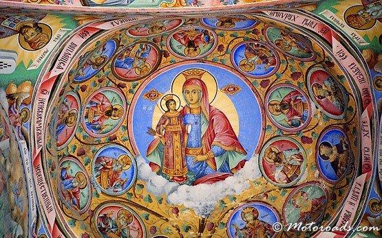 Murial Painting in Rila Monastery