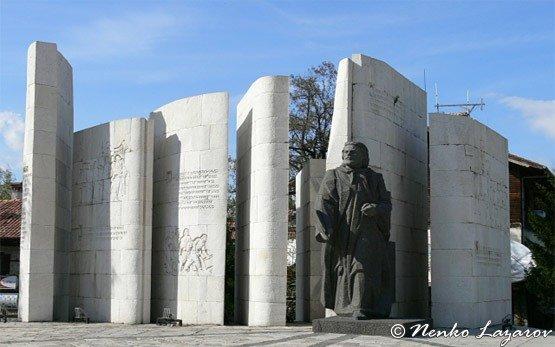 Паисий Хилендарский памятник - Банско