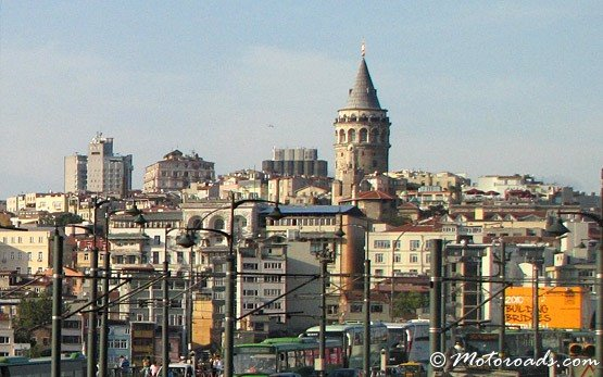 Panoramic View Over Galata Bridge Towards Beyoglu