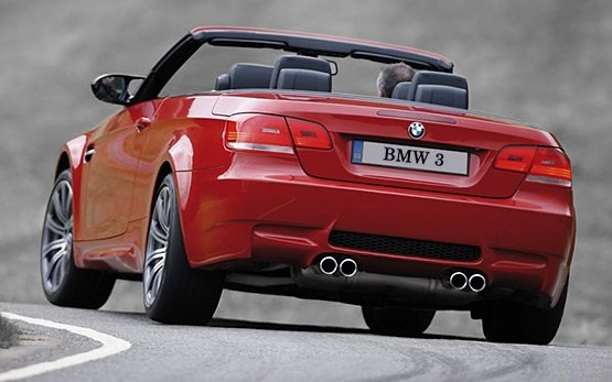 Rear view - 2008 BMW 320i Convertible