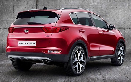 Rear view - 2017 KIA SPORTAGE 2.0 AUTO