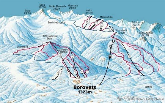 Ski map, Borovets