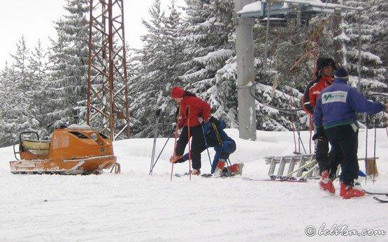 Лыжники в Семково