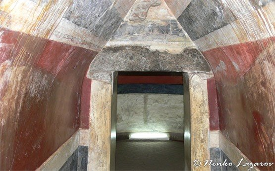 Inside Thracian Tomb of Kazanlak