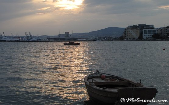 Volos Harbour on Sunset