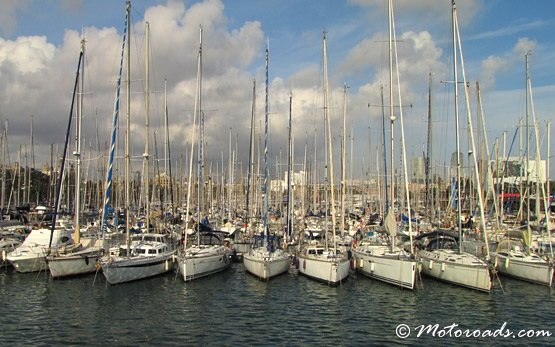 Yacht port in Barcelona