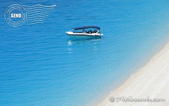 Boat on the beach - free ecard