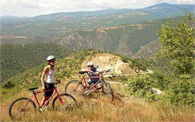 Cross-country biking in Bulgaria