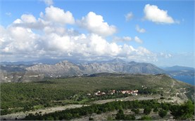 Dobrovnik - view from top of the hill