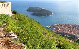 Dubrovnik - fortifications on top of the hill