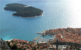 Dubrovnik - view from the cable car