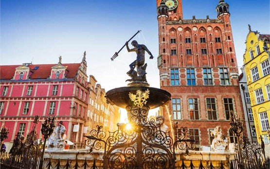 Гданьск Польша - фонтан Нептуна