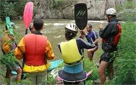 Getting instructions - kayak school
