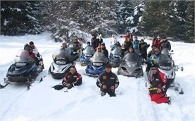 Guided snowmobile tours in Borovets resort