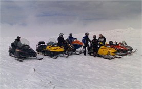 Guided snowmobile tours in Borovets