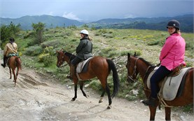 Horseback riding to Sarnitsa