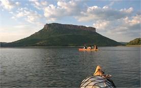 Lake canoeing in Bulgaria