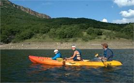 Lake kayaking in Bulgaria