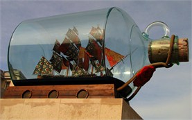 London - Nelson's Ship in a Bottle at the Greenwich Maritime