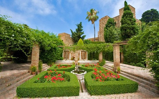 Малага - Градина в крепостта Алкасаба