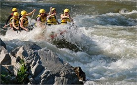 Rafting in fast waters in Bulgaria