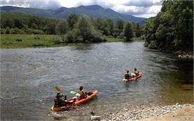 River kayaking in Greece