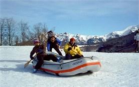 Snow rafting in Bulgaria