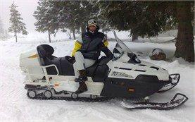 Snowmobile adventures in Bansko