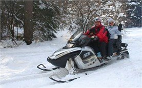 Snowmobile adventures in Borovets