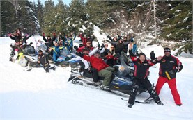 Snowmobile tours in Bansko winter resort