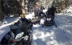 Snowmobiles in Bansko
