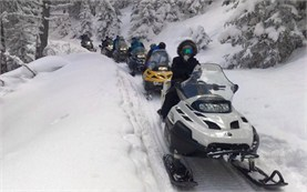 Snowmobiling in Borovec